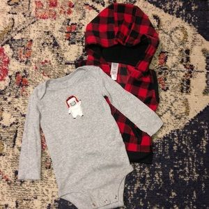Carter's Baby Boy Yeti/Buffalo Plaid Outfit